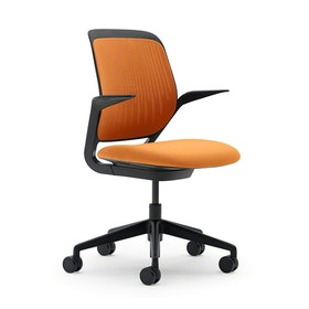 Orange Cobi Desk Chair, Black Frame